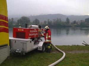 Wasserlieferung für Gasleitungs Revision