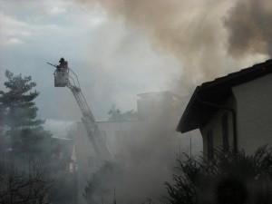 Brand von Einfamilienhaus