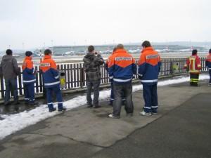 Besichtigung Flughafenfeuerwehr