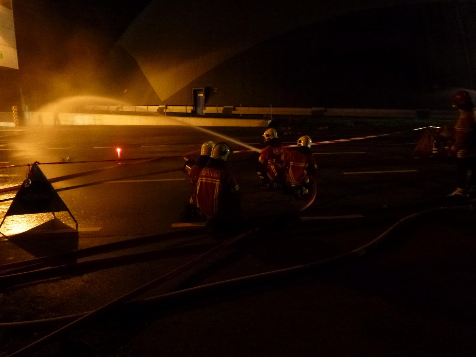 Gemeinsame Schlussübung der beiden Feuerwehren Möhlin und Rheinfelden
