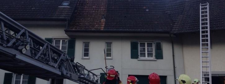 Brand in einem Bauernhaus