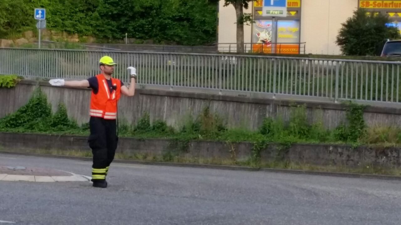 Regio Verkehrsregelungsübung