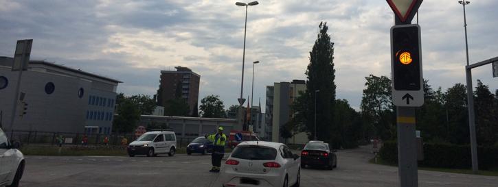 Verkehrsregelung Kohlplatzkreuzung