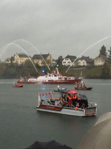 Einweihung des neuen Mehrzweckbootes Pegasus der Feuerwehr Birsfelden