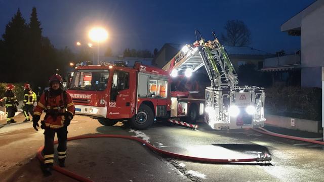 Brand eines Doppeleinfamilienhauses