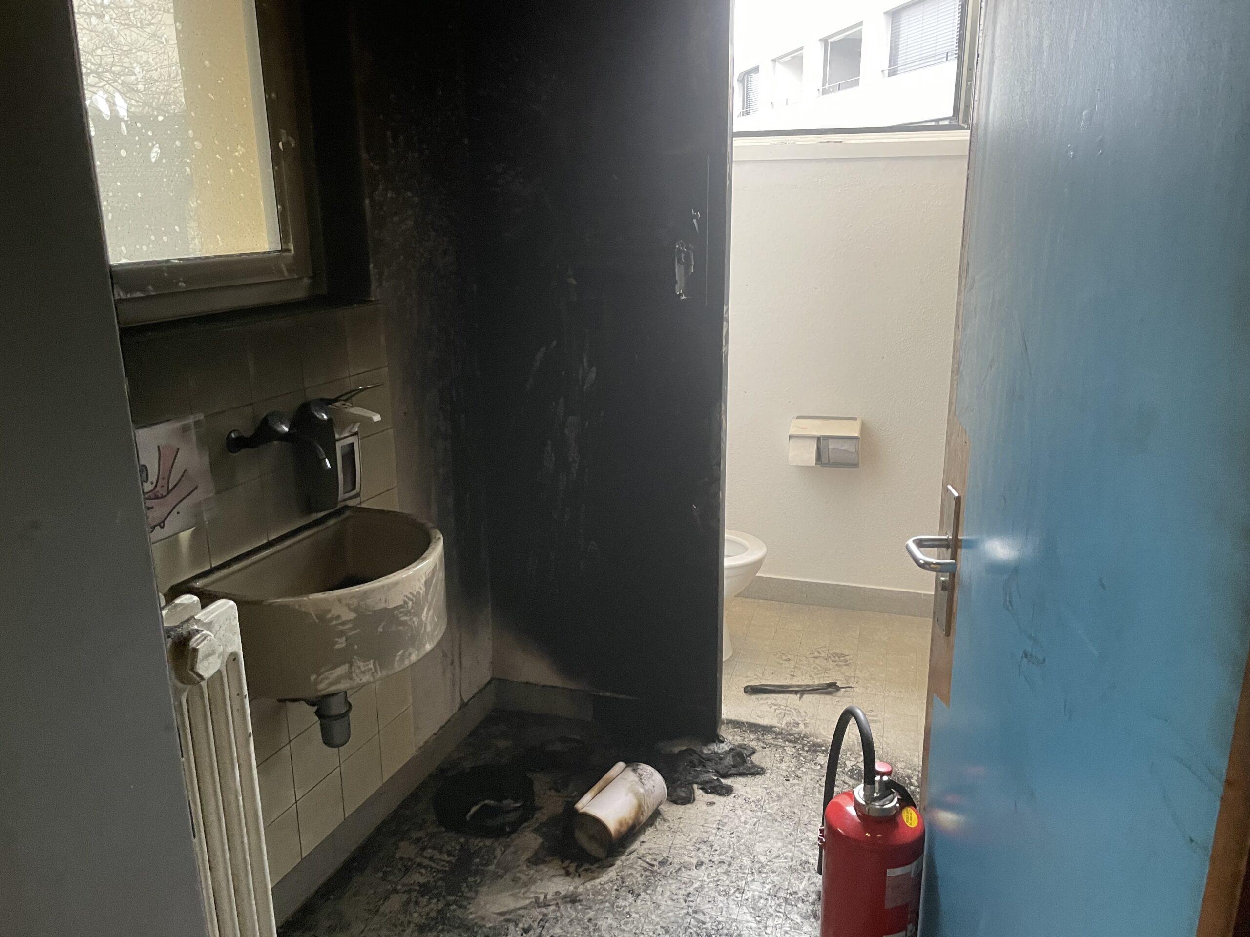 Rauch aus Herrentoilette