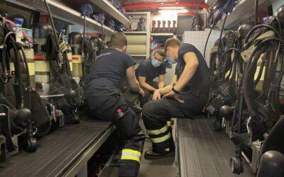 Übung für neue Atemschutzgeräteträger