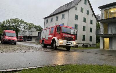 Gesamtfeuerwehrübung im Übungsdorf in Eiken